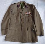 Veste de sortie avec pattes de col troupes coloniales et placard de décorations armée française vétéran WW2/Indochine/Algérie