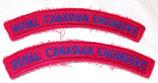 Paire de titles Royal Canadian Engineers Canada après-guerre