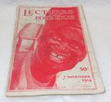 Magazine Lectures pour tous, numéro du 7 novembre 1914, Hachette français WW1