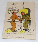 Carte postale humoristique militaire 323 A Noyer armée française