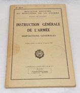 Manuel Instruction générale de l'armée, Dispositions générales 1960 tampons 410ème Bataillon des Services armée française Algérie