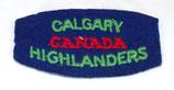 Title Calgary Highlanders Canada WW2