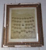 Cadre avec les portraits des soldats de la classe 1900 de la 10ème compagnie du 60ème Régiment d'Infanterie RI français WW1