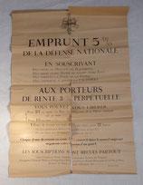Affiche Emprunt 5% de la défense nationale français WW1