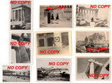 Lot de 9 photos allemandes WW2 Athènes acropole