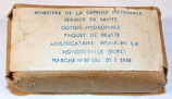 Paquet de coton hydrophile Service de Santé armée française Algérie