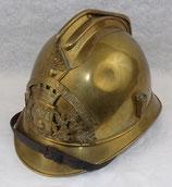 Casque modèle 1895 des Sapeurs-Pompiers de TINCHEBRAY (61, Orne, Normandie) français