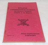 Bulletin d'information et de liaison des officiers d'artillerie d'active et de réserve, Ecole d'application d'artillerie, numéro 10 armée française