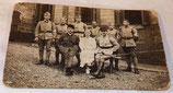 Carte postale photo médecins/infirmiers/infirmière Service de Santé 39ème Régiment d'Infanterie RI français WW1