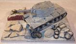 Diorama militaire char russe KVK2 Front de l'Est WW2 1/35ème