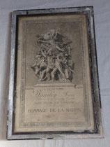 Cadre diplôme Mort pour la France soldat du 412ème Régiment d'Infanterie RI Meuse français WW1