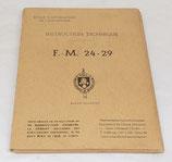 Manuel Instruction technique FM 24-29 Ecole d'application de l'infanterie 1954 armée française