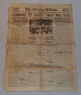 Journal The Chicago Tribune, Paris Edition, 10 mai 1919 US WW1