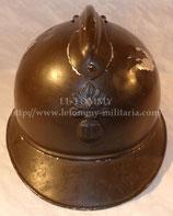 Casque Adrian modèle 1915 Infanterie modèle du commerce en aluminium pour officier français WW1