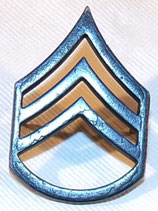 Insigne Collar badge noir Staff-Sergeant E-6 armée US
