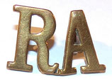 Shoulder title RA Royal Artillery GB WW1 (N°2)