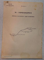Dossier VI Topographie, 2ème DIM Division d'Infanterie Marocaine, Ecole des cadres, 1946 armée française