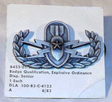 Insigne/badge qualification Explosive Ordinance Disposal Senior armée US