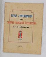 Revue d'information des troupes françaises d'occupation en Allemagne, numéro 5 février 1946 armée française