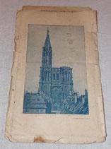 Carte de Strasbourg/Strassburg allemande WW1