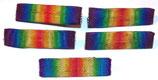 Lot de 5 barrettes de rappels de la médaille Interalliée 1914-1918 français WW1