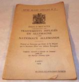 Documents concernant les traitements infligés en Allemagne à des nationaux allemands GB WW2