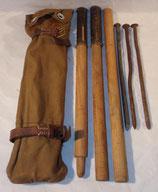 Housse (type allemand WW1) avec mats et piquets de tente Suède WW1/WW2 (N°1)