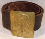 Ceinturon espagnol en cuir avec plaque Guerre civile d'Espagne