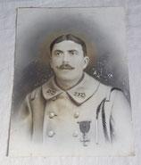 Portrait soldat 232ème Régiment d'Infanterie RI avec croix de guerre français WW1