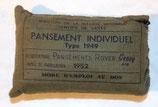 Pansement Individuel Type 1949 Service de Santé armée française Indochine/Algérie