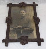 Cadre avec photo d'un soldat du 1er Régiment français WW1