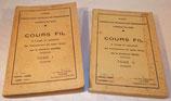 Cours Fil, A l'usage du personnel des Transmissions de toutes armes, Tome I + Tome II CITT/AFN 1947 armée française