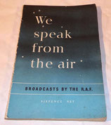 Livre We speak from the air, Broadcasts by the RAF GB WW2