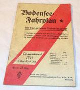 Bodensee Fahrplan 1941 allemand WW2