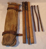 Housse (type allemand WW1) avec mats et piquets de tente Suède WW1/WW2 (N°2)
