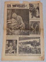 Journal Les nouvelles du matin, dimanche 22 et lundi 23 avril 1945 français WW2