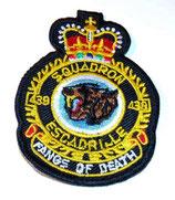 Insigne 439ème Escadron de soutien au combat/Combat Support Squadron armée Canada
