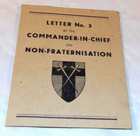 Letter N°3 by the Commander-in-Chief on Non-Fraternisation GB WW2