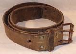 Ceinturon en cuir modèle 45 avec trou de réforme armée française