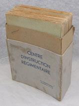 Boite avec dossiers Centre d'instruction régimentaire 36ème DI Division d'Infanterie, 18ème RI Régiment d'Infanterie 1944-1946 français WW2
