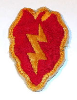 Insigne 25th Infantry Division US WW2