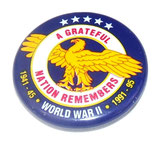Broche A GRATEFUL NATION REMEMBERS WORLD WAR II 1941-45 1991-95 US WW2