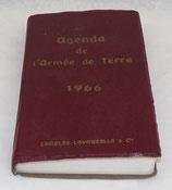 Agenda de l'armée de terre 1966 armée française