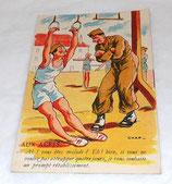 Carte postale humoristique militaire 327 A Noyer armée française