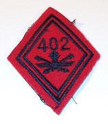 Losange modèle 45 402ème Régiment d'Artillerie anti-aérienne troupe armée française