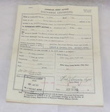 Document Discharge Certificate d'un homme du 2nd/10th Dragoons puis Canadian Armoured Corps Canada WW2
