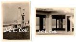 Lot de 2 photos allemandes WW2 d'août 1940 de la piscine marine du Touquet Paris-Plage (Pas-de-Calais)