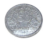 Pièce de 50 centimes Francisque Etat Français Vichy français WW2