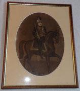 Cadre avec dessin Cuirassier cavalerie français WW1