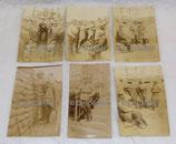 Lot de 6 photos originales du 80ème RIT Régiment d'Infanterie Territoriale dans les tranchées en 1915 dans les Flandres belges français WW1